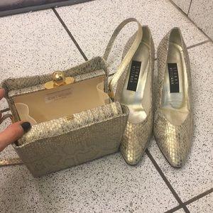 Stuart weitzman matching shoes and shoulder bag